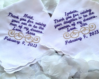 Handkerchief for mother of the bride and mother of the groom