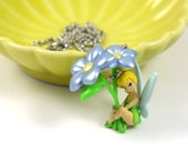SALES - Last 1 - Tinker Bell Necklace - Peter Pan, Disney Necklace, Kids Necklace, Toys Jewelry, Flower
