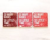 So Many Books So Little Time Frank Zappa Quote Marble Coaster Set