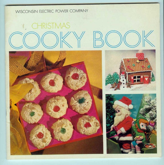 Vintage Cookie Cookbook Christmas Cooky Book from WI Electric Power Co Reddy Kilowatt