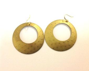 Hoop stars earrings