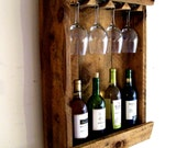 Reserved Listing for Candy // Wine Bottle Rack / Wine Rack / Wine Glass Holder / Wine Glass Rack Rustic Reclaimed Barn Wood