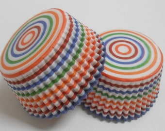 Rainbow Cupcake Liners - 50 Cupcake Liners / Baking Cups / Birthday Cupcakes / Baking / Party Supplies / Rainbow Cupcakes / Baby Showers
