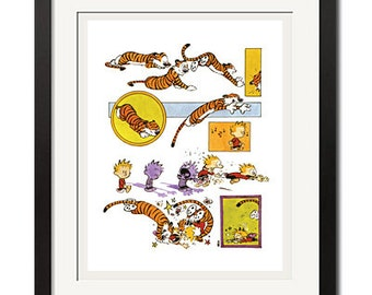 Calvin and Hobbes Sneaky Attack Poster Print