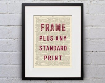 Any Standard Print Plus Frame - Dictionary Page Book Art Print - DPSC001b