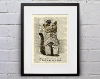 It's Just A Plant - Victorian Cat Dictionary Page Book Art Print - DPLJ015