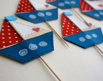 Sailboat Cupcake Picks