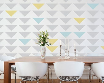 Geometric Triangle Wall Stencil