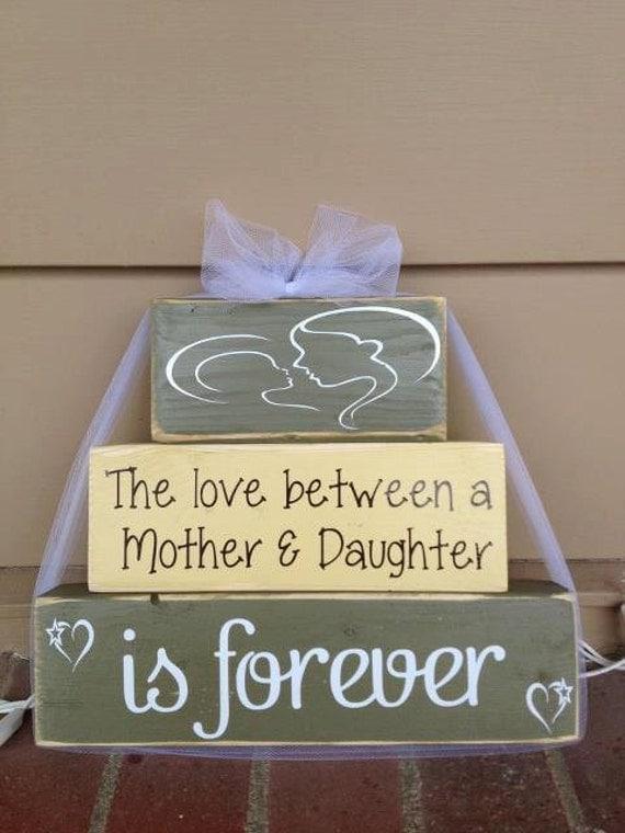 Motheru0026#39;s Day Wood Block Set Love Between Mother And