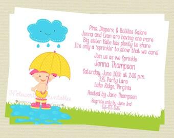 Printable Baby Girl Sprinkle/Shower Invitation