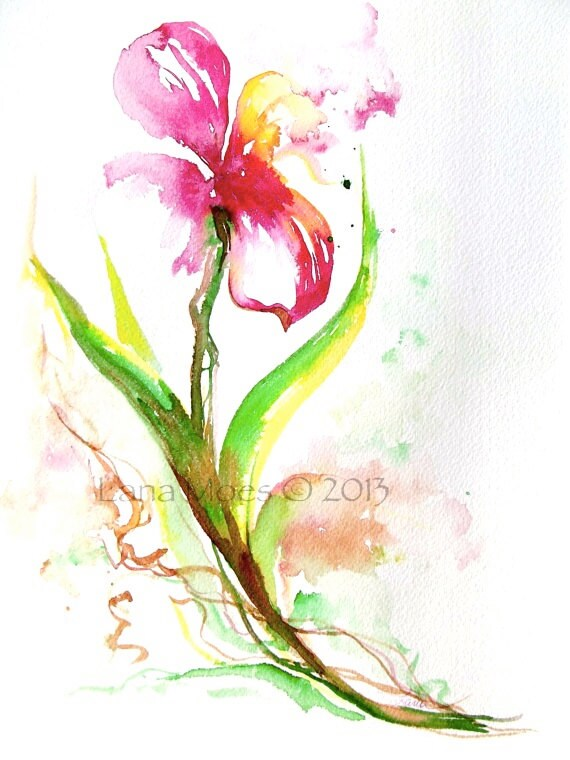 Abstract Watercolor Paintings of Flowers Flowers Painting Abstract