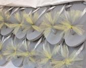 Custom WEDDING Flip Flops BRIDESMAID Flip Flops Bride Flip Flops, Personalized Tulle Flip Flops, Bridesmaid Bridal Party Gift, Beach Wedding