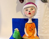 Oh, Little Girl, You Wait So Long - Polymer Clay Girl Figurine