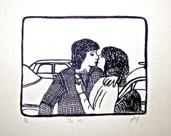The Kiss - Screenprint