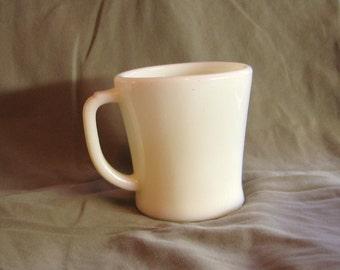 Ivory Fire King Flat Bottom Mug
