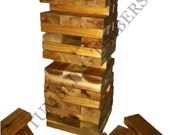 """Tumbling Timbers """"Larger"""" Set Handmade from solid CEDAR wood!  Great for Parties, Weddings, Camping and so Much More"""