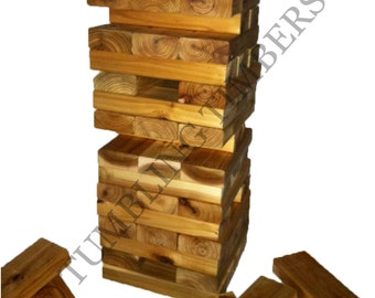 "Tumbling Timbers ""Larger"" Set Handmade from solid CEDAR wood!  Great for Parties, Weddings, Camping and so Much More"