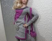 Color Block - Fuchsia Fusion - 12 inch Doll Fashion fits FR2, NuFace & Fashion Royalty