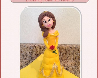 Belle ( Beauty and the Beast) Cake Topper Step by Step Tutorial