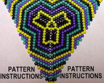 Bead Pattern Instructions: Peyote Triangle Pattern Tri5614