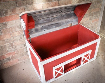 Barn Wood Toy Box