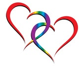 Two hearts, one love - Rainbow Hearts entwined