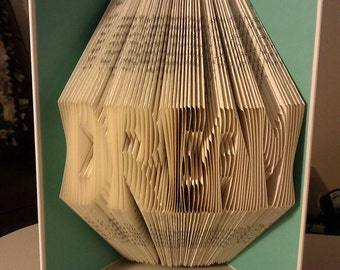 "Folded Book Art ""Dream"" - ( Made to order )"