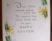 vintage POSTCARDS ...  HAPPY EASTER poem stamped 1919...