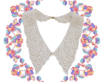 Louisa Lace collar necklace