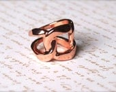 Chunky desquared ring in Rose-gold - Everyday wear Jewelry