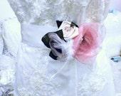 Vintage Bridal Belt, Wedding Sash, Wedding Belt, Vintage Flower Sash, Flower Wedding Belt, Vintage Style Sash