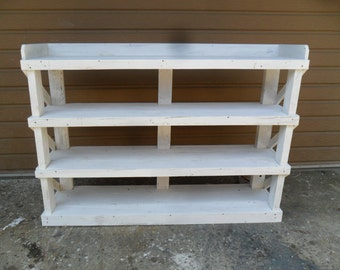 shabby chic BOOKCASE/SERVER from reclaimed wood USA made shabby chic style