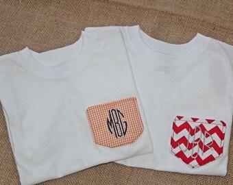 Kids Applique Pocket Short Sleeve T-shirt