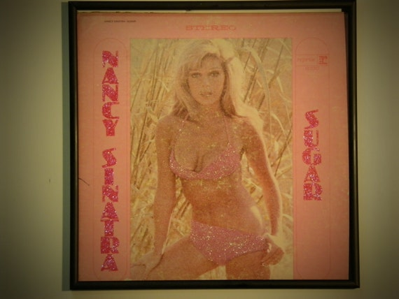 Glittered Record Album - Nancy Sinatra - Sugar