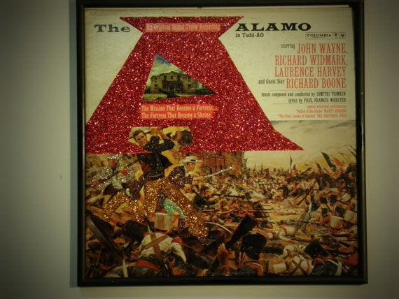 Glittered Record Album - The Alamo Soundtrack