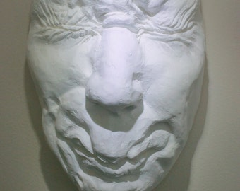 "Macabre Fine Art Face Sculpture,  ""Hiding No. 2, Process Study"""