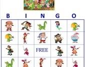 Jake and The Neverland Pirates Personalized Bingo