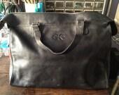 Vintage Calvin Klein black leather satchel