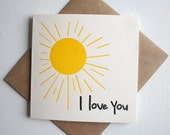 I Love You Greeting Card - LPHP