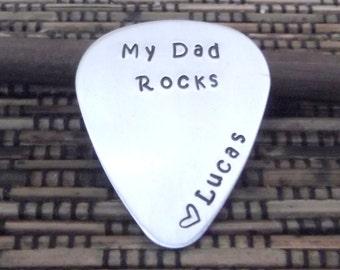 Dad Guitar Pick- Father's Day Guitar Pick- Dad Guitar Pic- Personalized Guitar Pick- Gift For Dad- Daddy Guitar Pick
