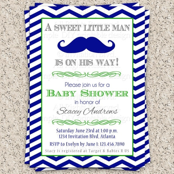 Items similar to little man mustache baby shower little man baby shower mustache baby shower for Free printable mustache baby shower invitations