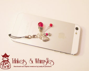 ON SALE! Strawberry Dust Plug and Cellphone Charm