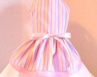 Dog Dress, Pastel  Stripes