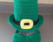 St Patricks Day Leprechaun Hat with Bow Tie