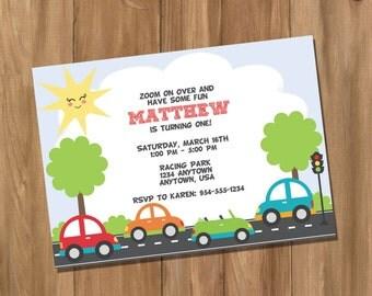 Cars Birthday Party Invitation (Digital - DIY)