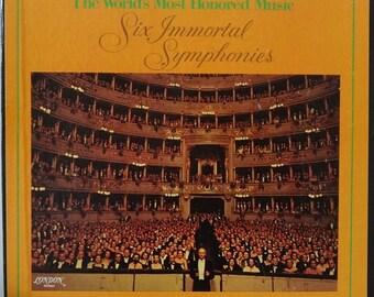 Rare Vintage Six Immortal Symphonies 3 Stereo LPs Longines Symphonette Boxed Set