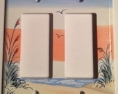 Sand Dune with Sea Oats Double Rocker Lightswitch Cover