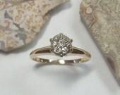 Antique engagement ring - Antique diamond ring - wedding ring - vintage diamond ring - antique diamond jewelry - Victorian 14k gold - ar1139