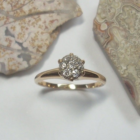 Antique engagement ring Antique diamond ring by GregDeMarkJewelry