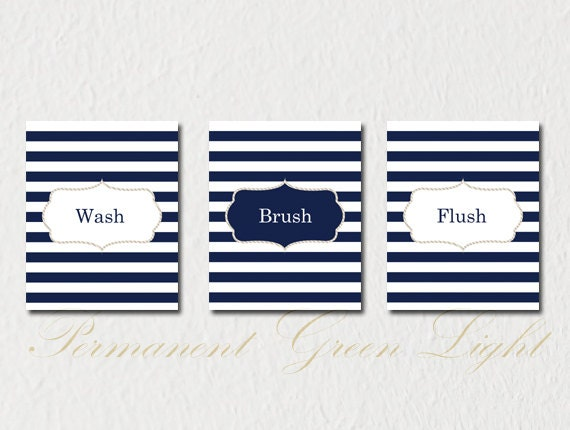 Nautical Bathroom Nautical Decor Nautical by NauticalDecorShop